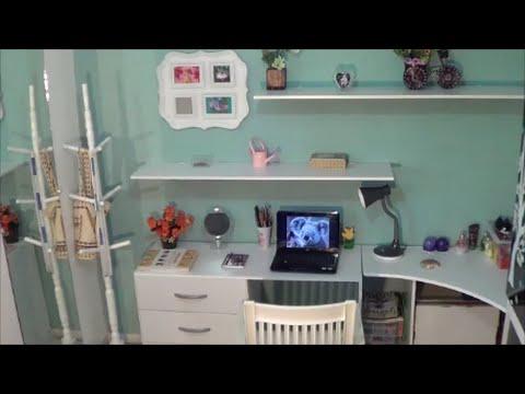 Faça você mesmo: Home Office para o quarto reutilizando madeira de móvel velho