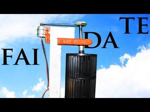 Turbina Eolica Verticale • Fai da Te