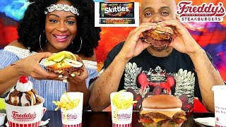 Freddy's Frozen Custard & Steakburgers Eating Show! New Mint N' Oreo Custard!