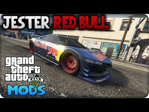 GTA 5 - JESTER DE RED BULL - JESTER RED BULL GTA 5 PC MOD GAMEPLAY