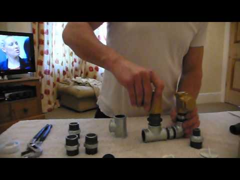 Part 1  constructing a 1 inch Hydraulic Ram pump made from galvinised steel water pipe fittings.