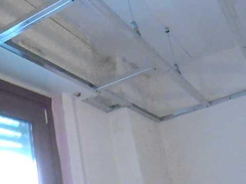 davide pellegrino crea la struttura telaio contro soffitto cartongesso lana d...