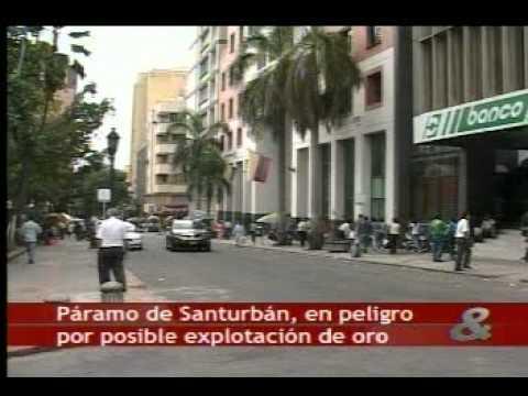 Gran minería en el páramo de Santurbán
