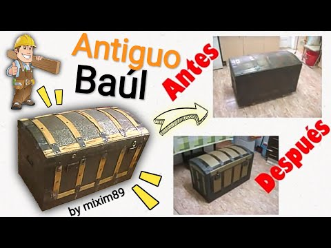 Brico restauraci n baul antiguo by mixim89 youtube for Restaurar baules antiguos