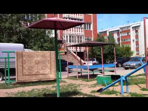 Dangerous playgrounds for children in Kazakhstan