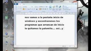 Quitar Programas De Arranque De Windows Xp,vista Y 7