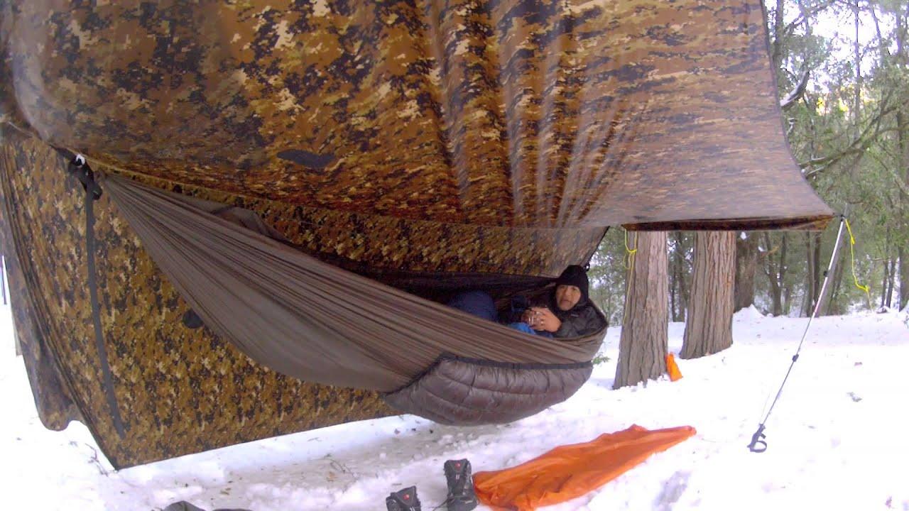 2013 Snow Hammock Camping At Mt Palomar