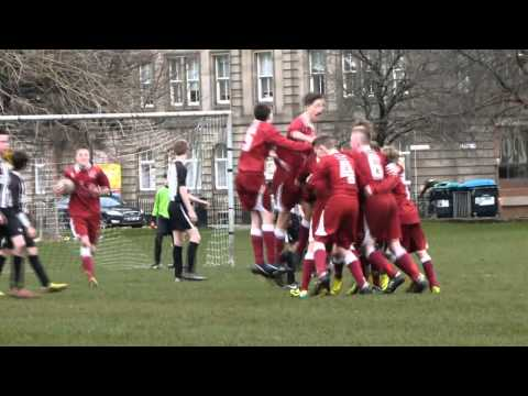Extra time free kick wins it for Tynecastle FC U14s