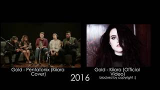 Gold - Pentatonix (Kiiara Cover) (Side By Side)