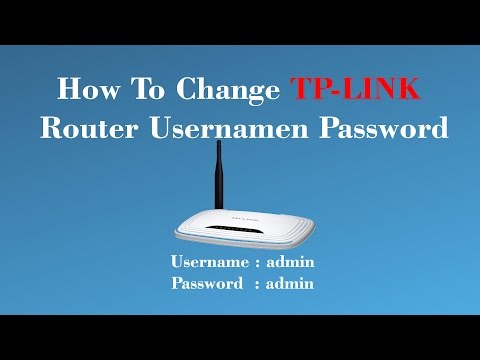 How To Change tp link Wifi Router Username And Password