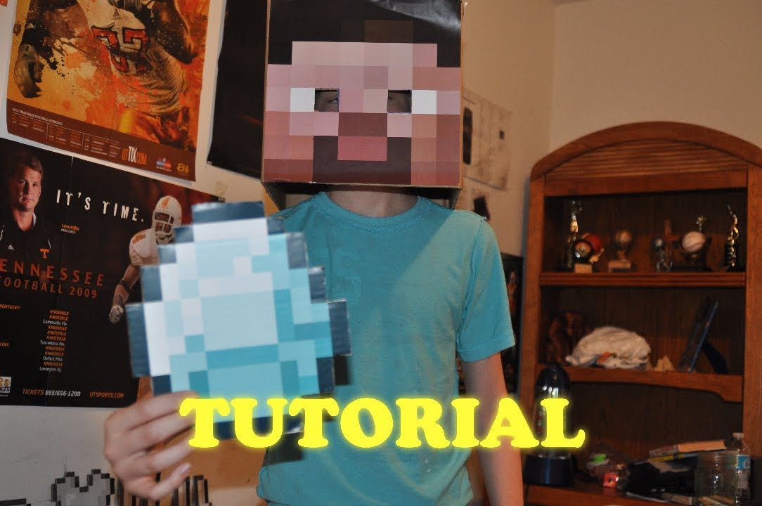 Build A Head >> Minecraft Tutorial - How to Make a Steve head, and Minecraft Items! [HD] - YouTube
