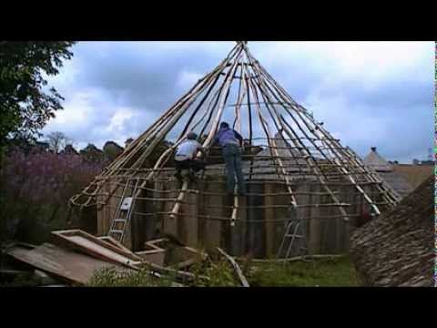 how to start a roof on a round house youtube