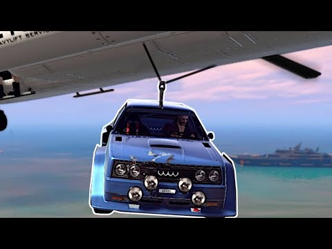 CAR HEIST BY HELICOPTER! - GTA 5 Online Gameplay & Funny Moments