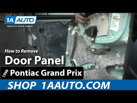 How to install replace remove a door panel on a 97 03 for 2002 grand am window regulator