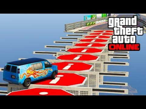 [GTA5] - Thực Hiện Pha Mạo Hiểm - PARKOUR xe gia đình vượt mọi địa hình hiểm trở nhất