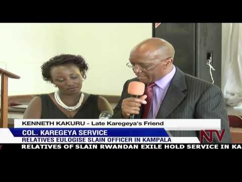 Col. Karegeya Funeral: Relatives eulogize slain Rwandan officer in Kampala