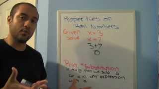 Pre College Algebra Review 3: Properties of Numbers