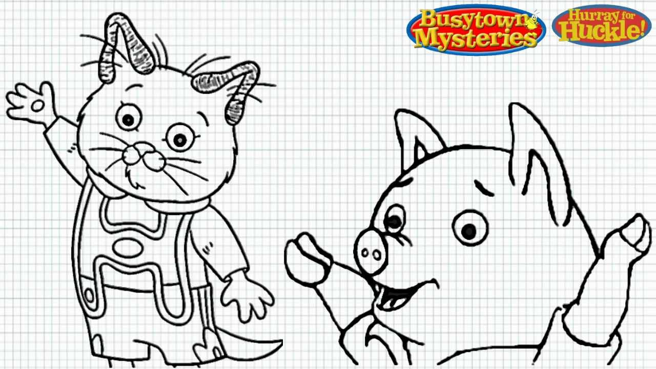busytown huckle coloring pages - photo#3