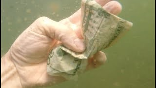 CASH found under water diving for lake treasure!