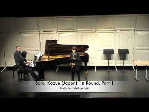 Sato, Kozue (Japon) 1st Round. Part 1