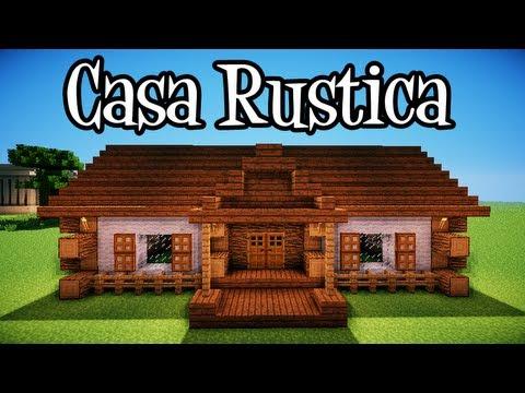 Tutoriais minecraft como construir uma casa rustica youtube for Construir casas