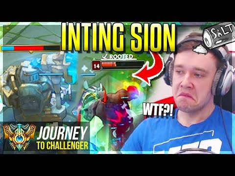 NEW INTING SION  = BROKEN, TILTING & STUPID!!!!! - Journey To Challenger | League of Legends