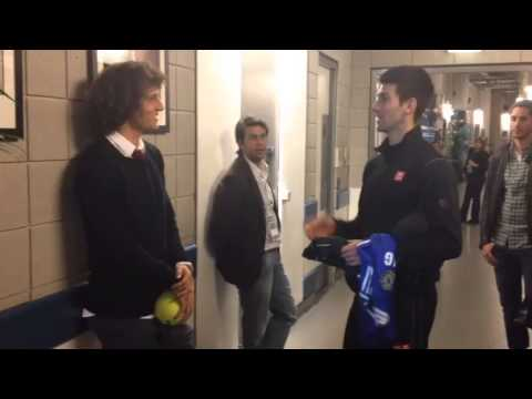 Djokovic Meets David Luiz
