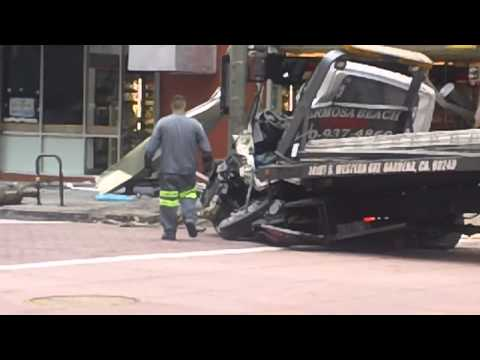 Metro Staff Assessing Situation of Tow Truck and Bus Accident - Downstreet$