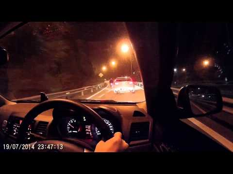 Proton inspira uphill from Karak highway to Gohtong Jaya (Genting Highlands) 20140719