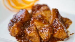 Pollo con salsa de naranja estilo Chino