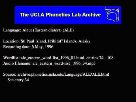 Aleut audio: ale_eastern_word-list_1996_34