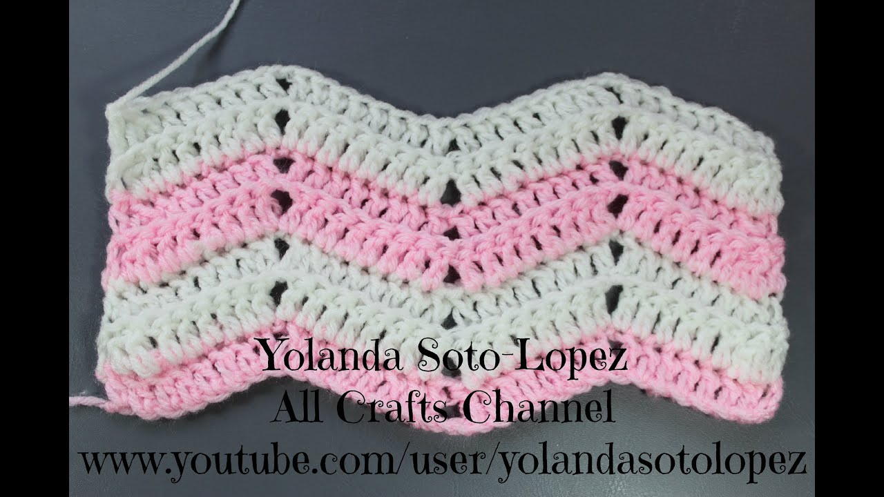Beginner Crochet Stitches Youtube : Crochet Ripple Stitch (English) - YouTube