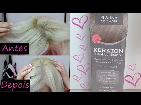 Testei ♡ Keraton Platina (Prata Claro) | Tonalizante Hidratante