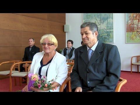 Petrovice u Karviné - Manželé Štochlovi slavili zlatou svatbu www.TelevizeKarvinsko.cz