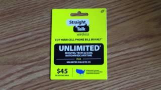 45 Straight Talk Phone Refill Card