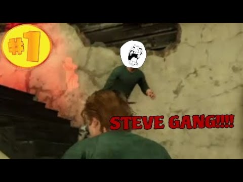 STEVE GANG TO THE RESCUE!!!!:Dead By Daylight Funny Moments #79