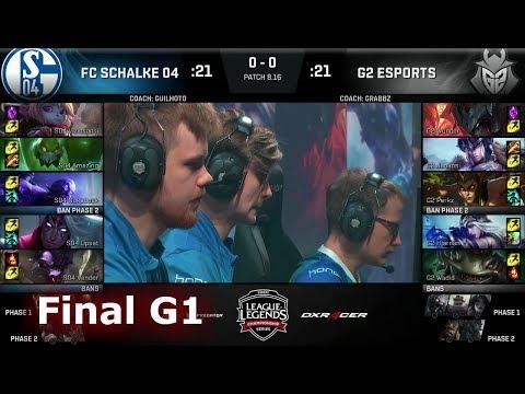 FC Schalke 04 vs G2 eSports - Game 1   Final of EU Regional Qualifier for S8 Worlds 2018   G2 vs S04