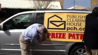 The Prize Patrol Puts On The Van Sign!