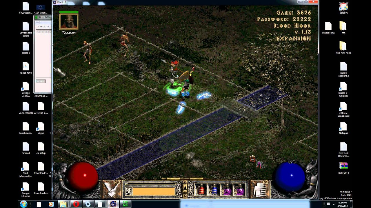 I just patched up my diablo 2 lod into patch version