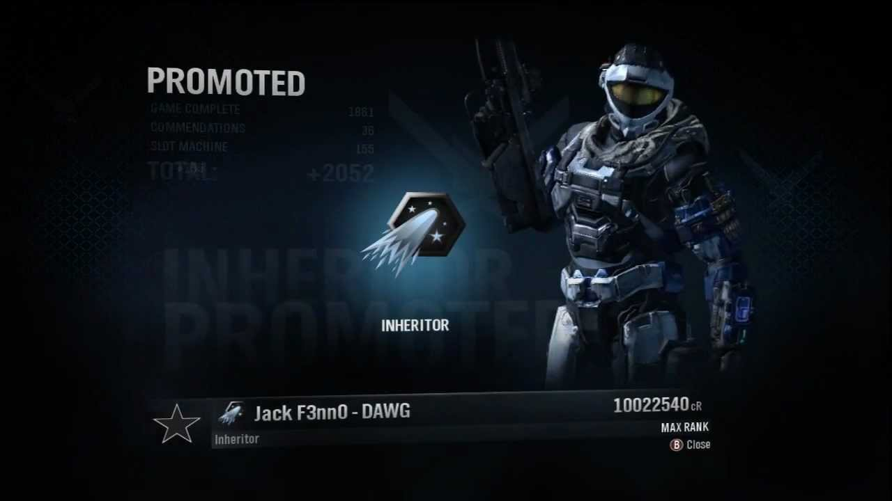 Ranking up to Inheritor on Halo: Reach - YouTube