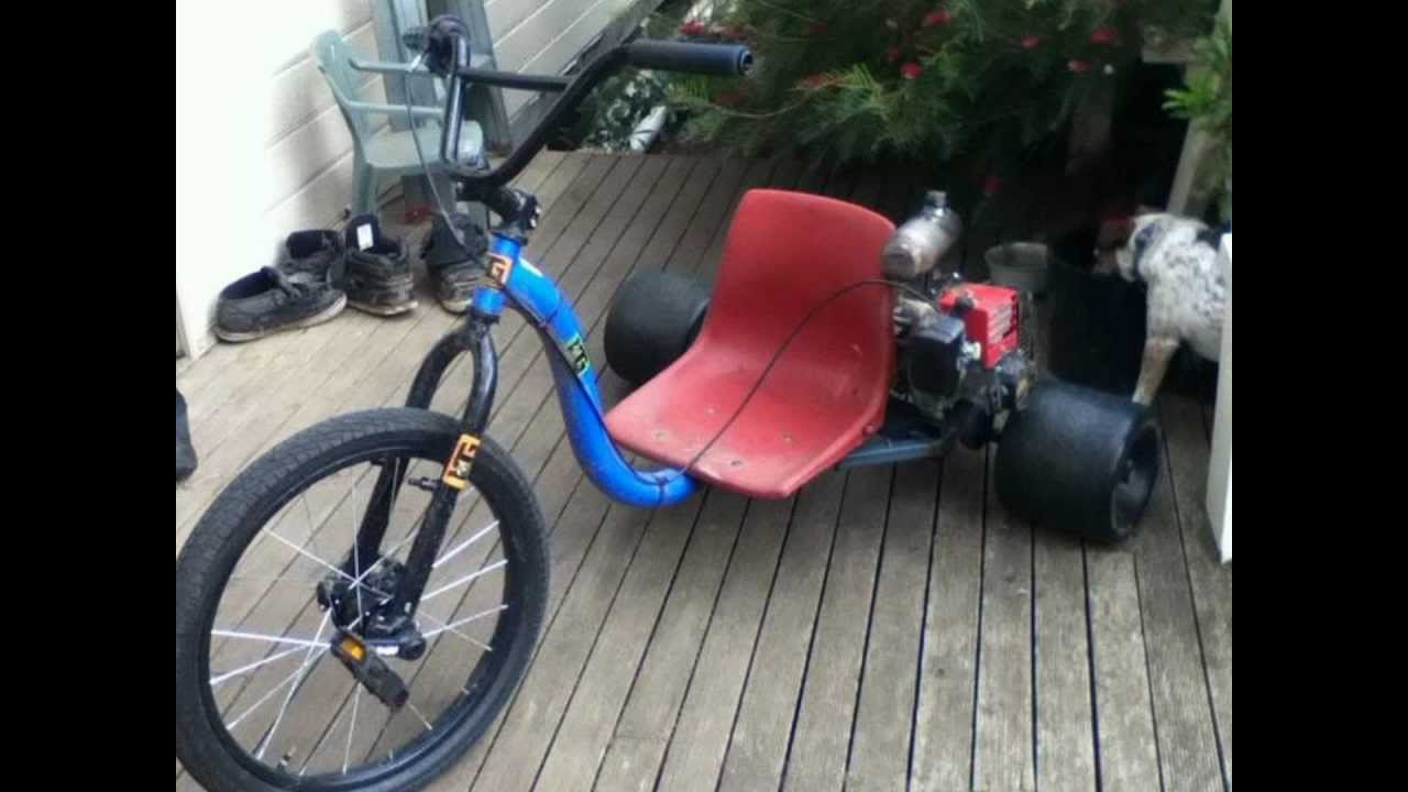 Motorized huffy slider 49cc drift trike youtube Motorized video slider