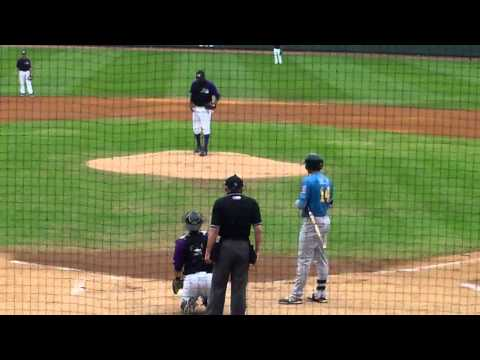 Winston-Salem RHP Braulio Ortiz vs. Myrtle Beach 3B Joey Gallo, 5.7.14