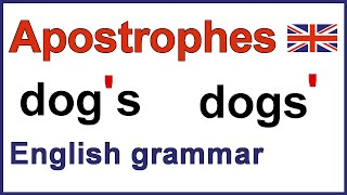 Using apostrophes, English punctuation video lesson