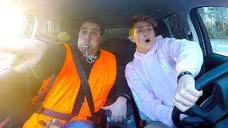 LEARNING TO DRIVE A CAR! (MattyBRaps)