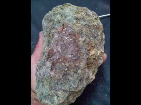 Kimberlite rock with precious stone and natural ore also found 5