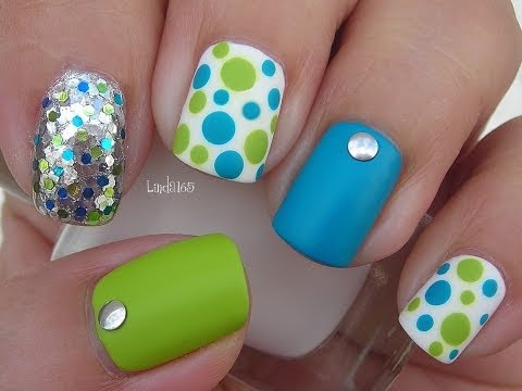Nail Art - Blinged Out Matte Dotticure