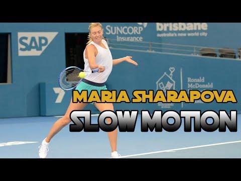 Maria Sharapova - SLOW MOTION - Backhand, Forehand, Serve 2017 HD