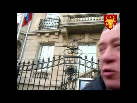 A dat foc manechinului lui Putin la Strasbourg