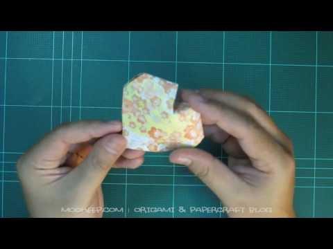 การพับกระดาษรูปหัวใจแบบสามมิติ (Origami 3D Heart)