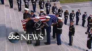 Former President George H.W. Bush lies in state in US capital